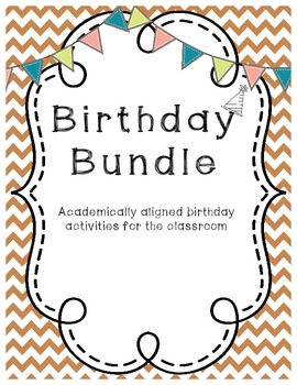 Birthday Bundle {Common Core Aligned Math & Language Arts Materials}