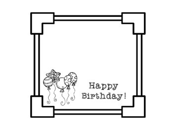 Birthday Bundle for Boys and Girls - Black and White