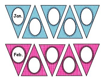 Birthday Bunting Bulletin Board Set