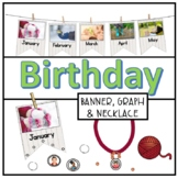 Birthday Bunting Months of Year Calendar Cards