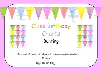 Birthday Bunting for the classroom