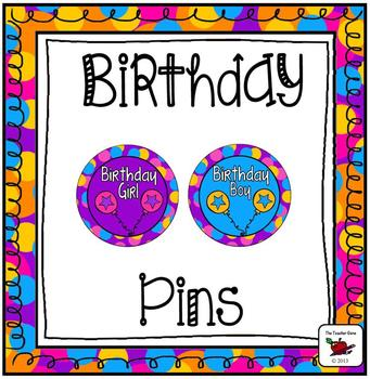 Birthday Buttons/Pins/Badges
