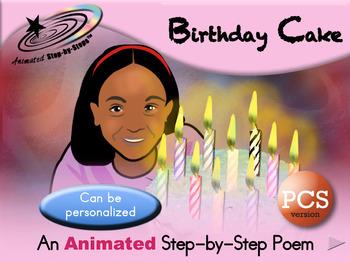 Birthday Cake - Animated Step-by-Step Poem - PCS