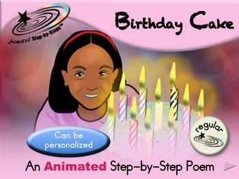 Birthday Cake - Animated Step-by-Step Poem - Regular