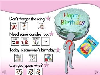 Birthday Cake - Animated Step-by-Step Poem - SymbolStix