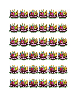 Birthday Cake Border or Band