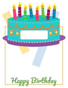 photograph about Birthday Cake Printable named Birthday Cake Clroom Printable