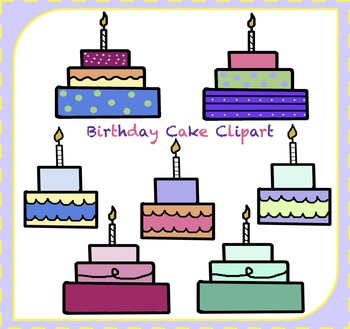 Birthday Cake Clipart / Birthday Party Clipart