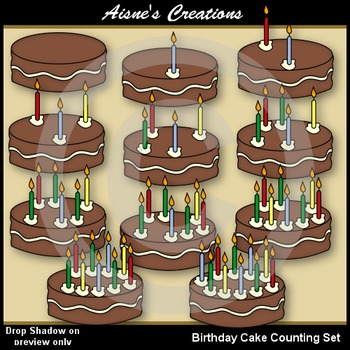 Birthday Cake Counting Set
