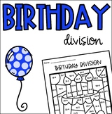 Birthday Cake Division Coloring