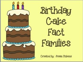 Birthday Cake Fact Families