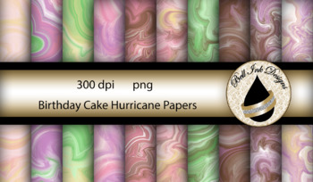 Birthday Cake Hurricane Papers Clipart