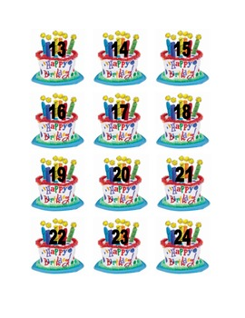 Birthday Cake Numbers for Calendar or Math Activity