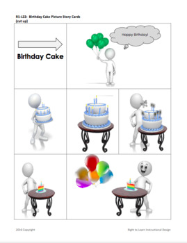 Birthday Cake Picture Story
