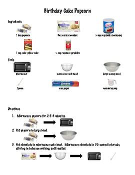 Birthday Cake Popcorn Visual Recipe