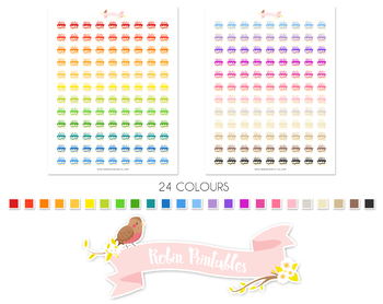 Birthday Cake Printable Planner Stickers