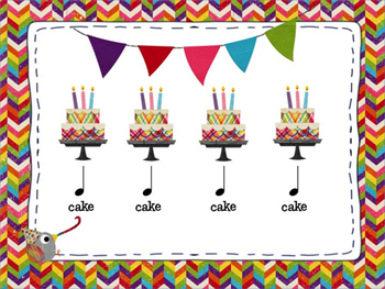 Birthday Cake Rhythms: Intro to Quarter and Eighth Notes