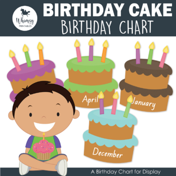 Birthday Cake Themed Birthday Chart And Certificate By Busy Little Bugs