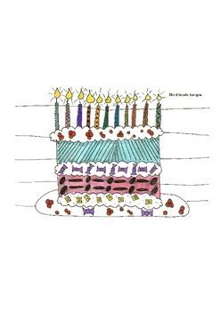 Elementary Visual Art Project - Birthday Cake