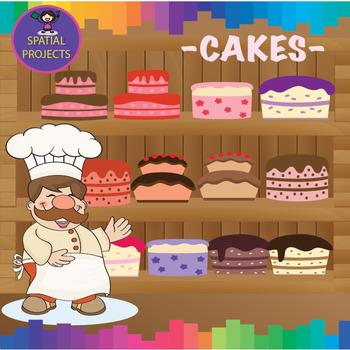 Birthday Cakes - CUTOUTS, Classroom Decor, Bulletin board