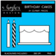 Birthday Cakes Clipart {A Hughes Design}