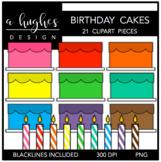 Birthday Cakes Clipart {A Hughes Design}