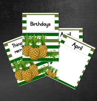 Birthday Calendar: Green with Pineapples
