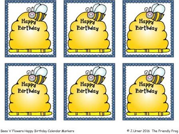Birthday Calendar Tags
