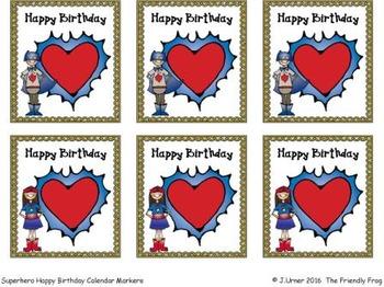 Birthday Calendar Tags