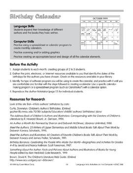 Birthday Calendar (computer project)