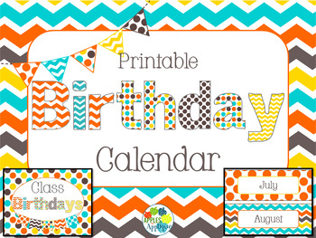 Birthday Calendar in Candy Colors Theme