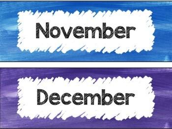 Birthday Calendar in Rainbow Theme