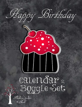 Birthday Calendar/Boggle set