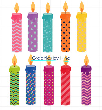 Birthday Candels Clipart Version 2