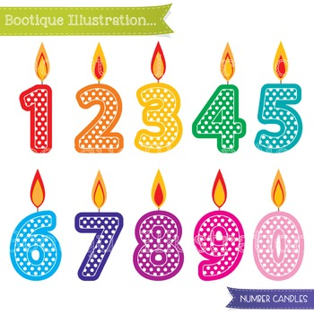 Birthday Candles Clip Art. Number Candles Clip Art. Birthd