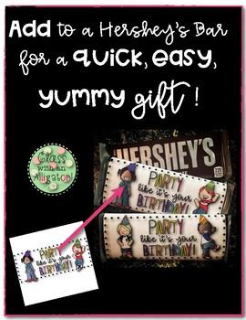 Birthday Candy Bar Wraps