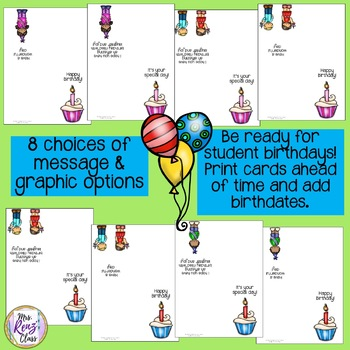 Birthday Cards for Students (FREE)