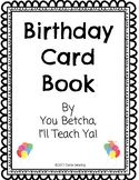 Birthday Card Book