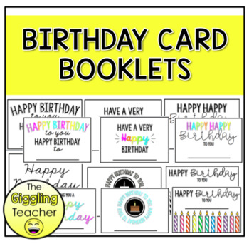 Magnificent Birthday Card Booklets By The Giggling Teacher Tpt Funny Birthday Cards Online Alyptdamsfinfo