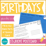 Parts of Speech Student Birthday Card