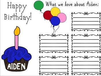 Birthday Card (Editable)