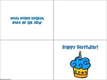 Birthday Card -Freebie