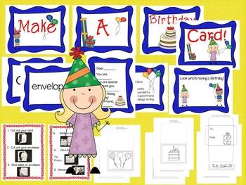 Birthday Card Literacy Center (Printables)