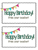 Birthday Card - Student
