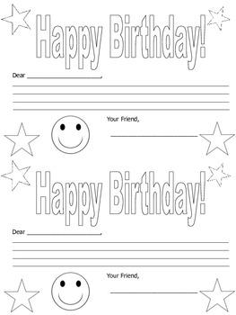 Birthday Card from Classmates