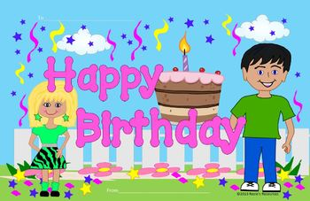Birthday Cards Cartoon ~ Birthday cards by rosie's resources teachers pay teachers