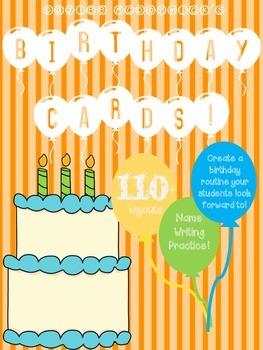 Happy Birthday Literacy Name Writing Activity