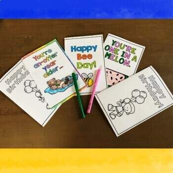 Birthday Cards - Print & Color