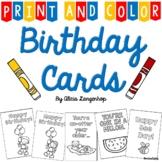 Birthday Cards - Print & Color