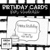 Birthday Cards for Students
